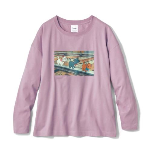 フォトプリントロングTシャツ おしゃれキャット