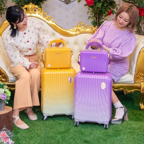 ミニトランクバッグ付き!シフレ ルナルクス「ディズニー プリンセス」スーツケース