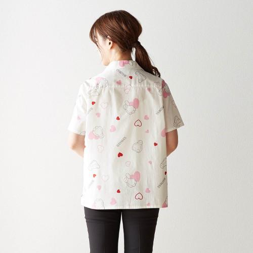 総柄プリントシャツ バックスタイル
