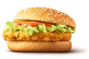 マクドナルド「500円セット」スパチキ(スパイシーチキンバーガー)セット
