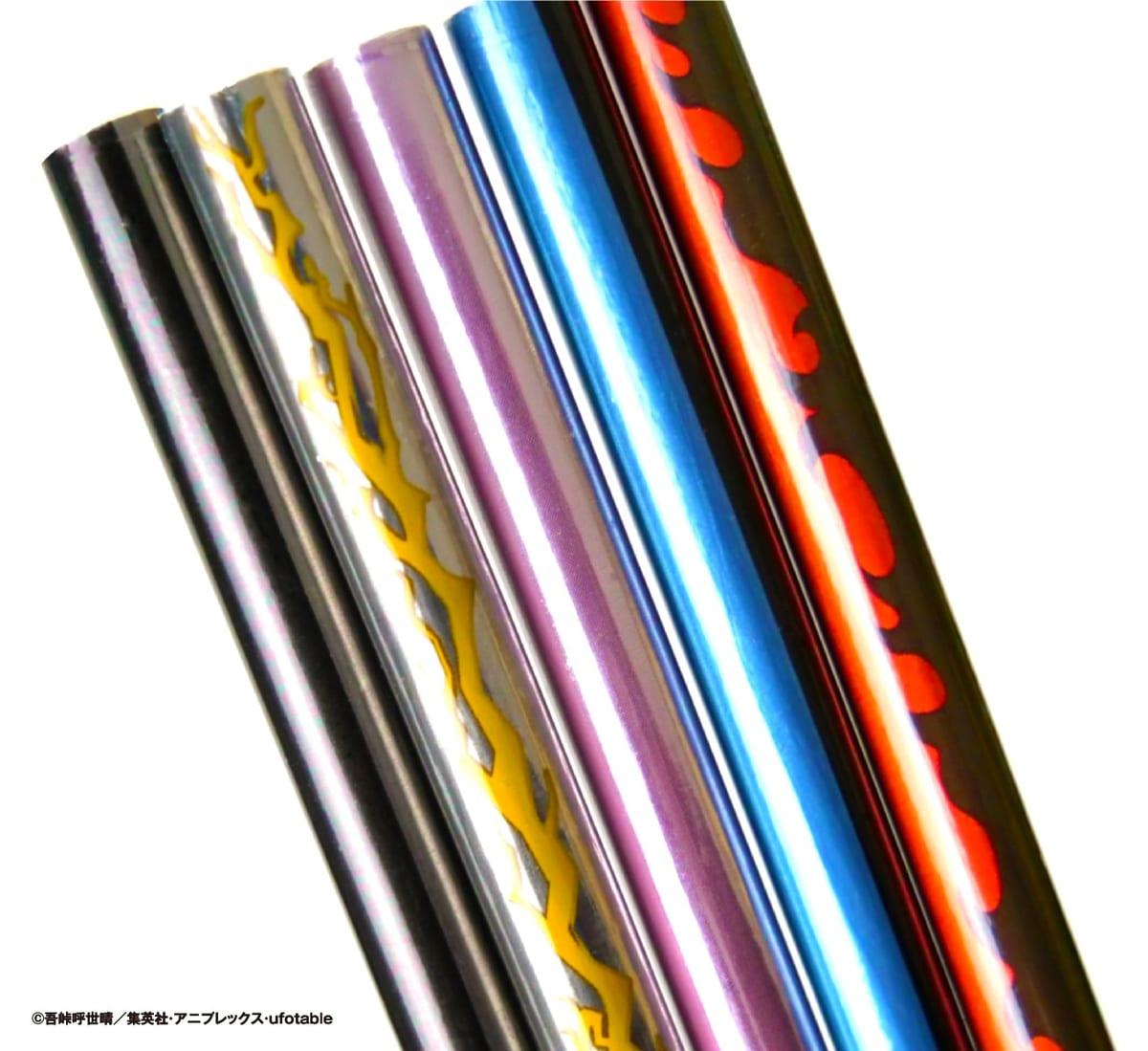 鬼滅の刃 日輪刀型鉛筆&キャップセット3
