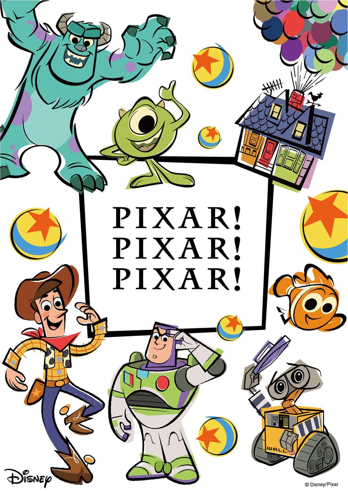 『トイ・ストーリー 』などディズニー&ピクサーのオリジナルグッズが勢ぞろい!PIXAR! PIXAR! PIXAR!