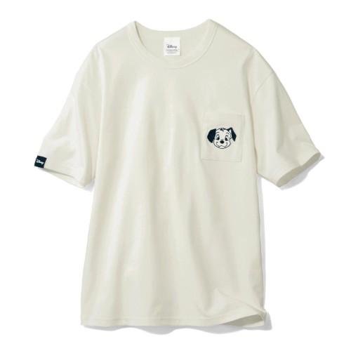 ちびカオポケットTシャツ 101匹わんちゃん ホワイト