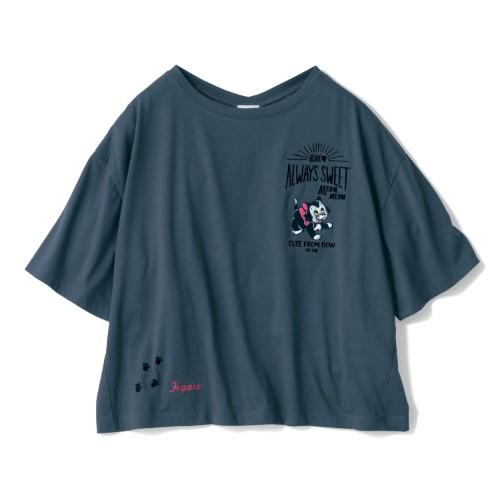 オーバーサイズの刺繍入りプルオーバー フィガロ