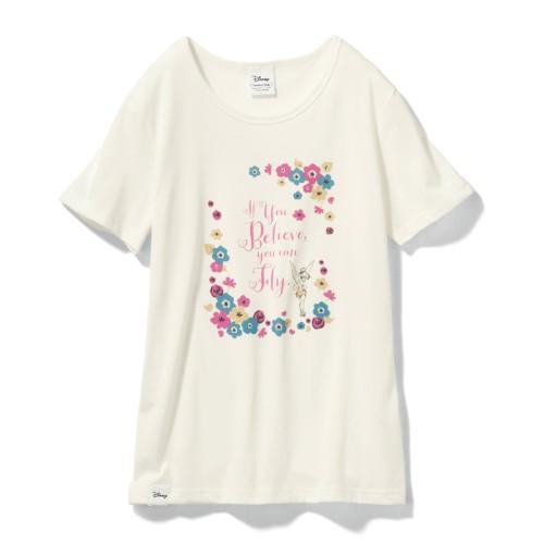 やわらか素材のプリントTシャツ ティンカー・ベル