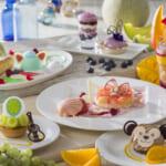ダッフィー&フレンズを表現したデザートが付いたコース・セット