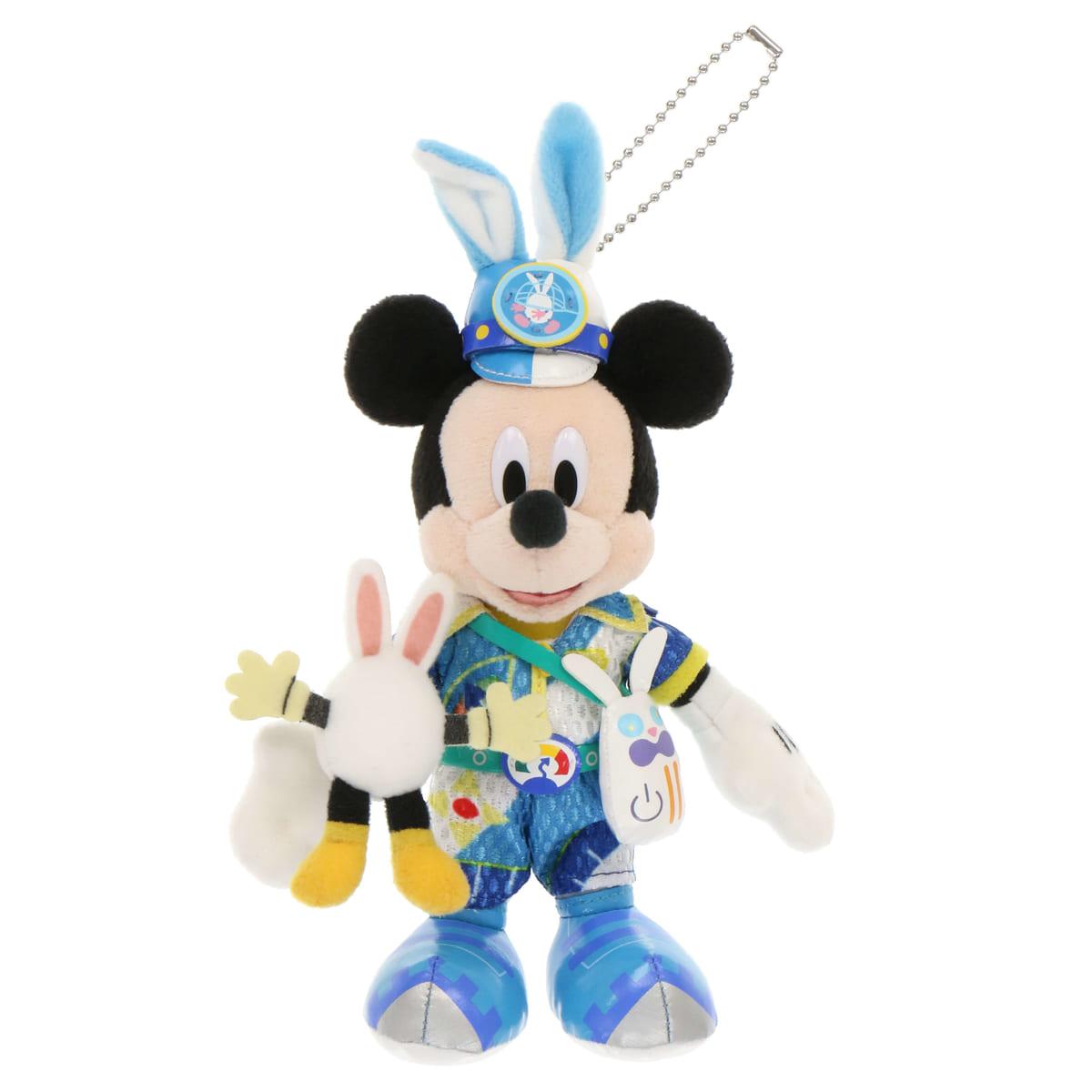 「ミッキーマウス」ぬいぐるみバッジ