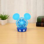 ミッキーマウス プレミアムUSB卓上扇風機Ver.2 ブルー