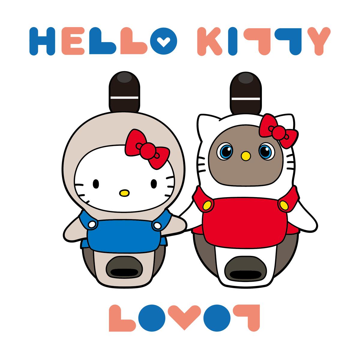 Hello Kitty×LOVOT イラスト