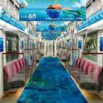 Osaka Metro 御堂筋線「ディズニー&ピクサー映画『あの夏のルカ』」海中トレイン