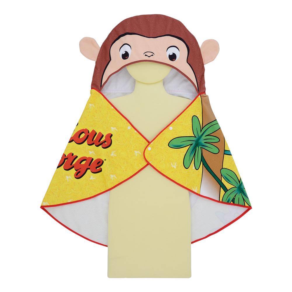 おさるのジョージ プレミアムフード付バスタオル~バナナもぐもぐ~