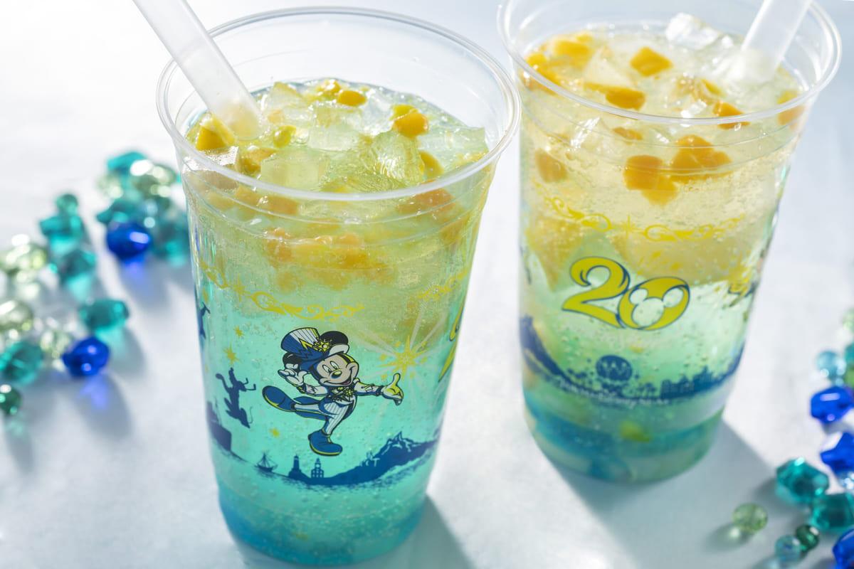 """""""東京ディズニーシー20周年:タイム・トゥ・シャイン!""""スパークリングドリンク(レモン&ジンジャー)"""
