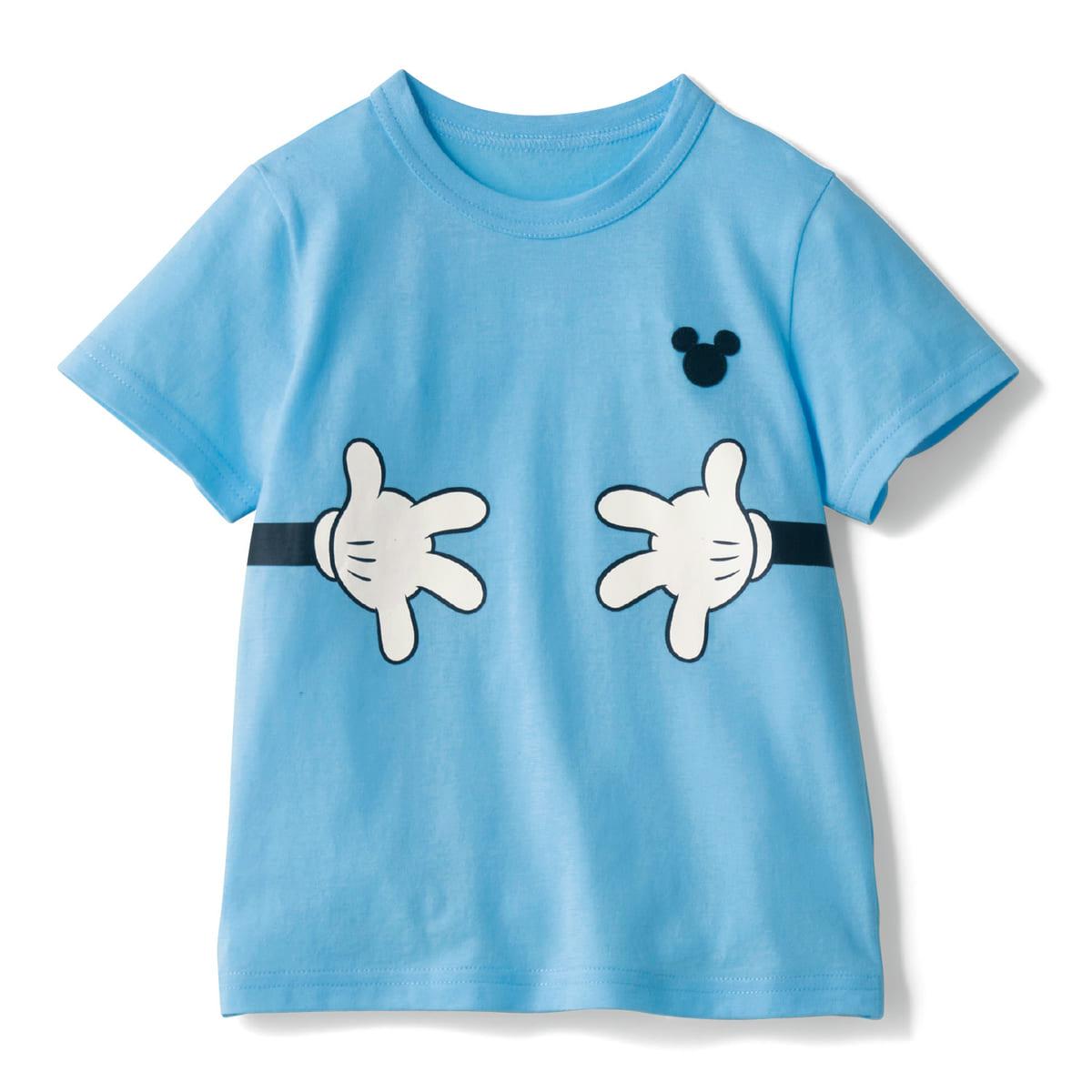 薄くて涼しい半袖Tシャツ ミッキー