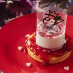 東京ディズニーランド「クイーン・オブ・ハートのバンケットホール」パンケーキ、ラズベリームース&ヨーグルトクリーム2