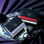 クリアカードケース付きバイカラー三つ折り財布