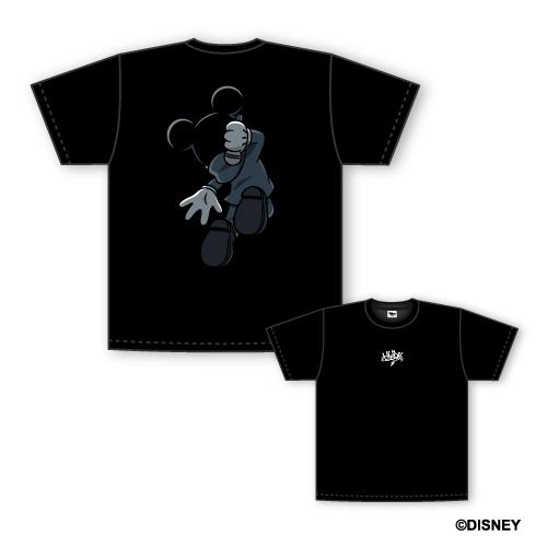 ミッキーマウス/Tシャツ ブラック