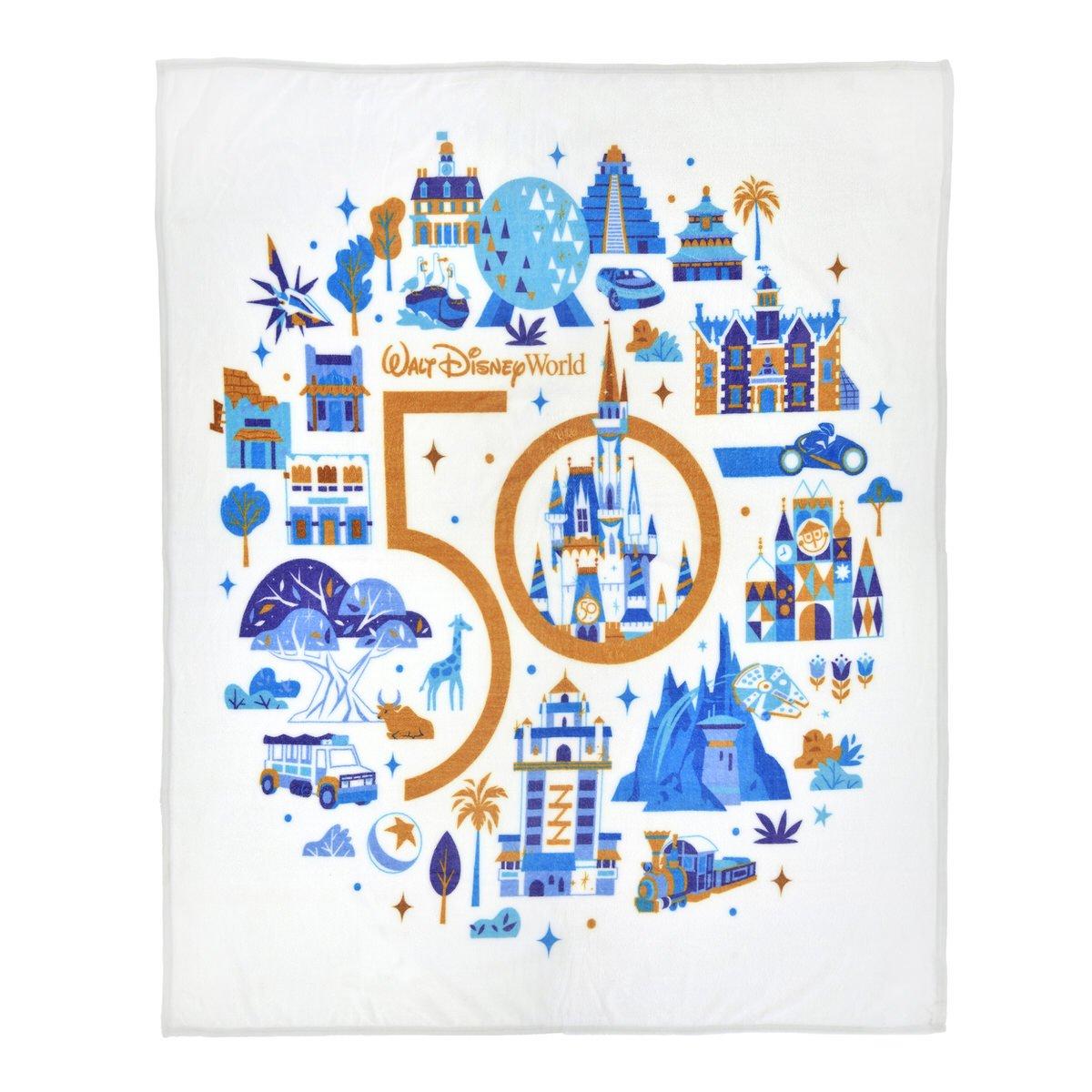 ディズニーストア「ウォルト・ディズニー・ワールド・リゾート」50周年記念グッズブランケット_1