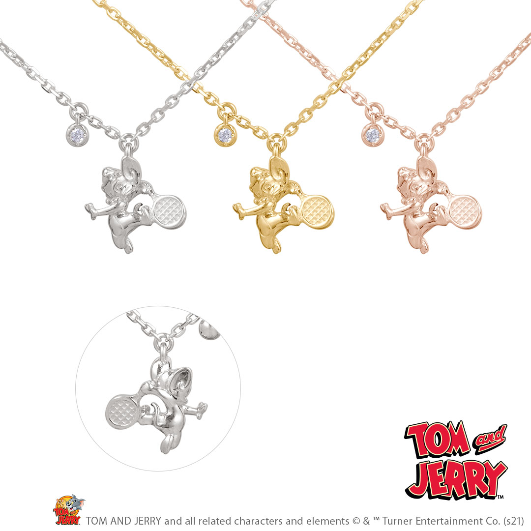【TOM and JERRY】Sports Necklace Tennis